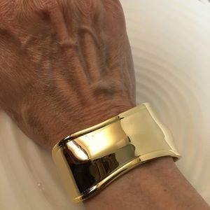 New gold plated cuff bracelet .